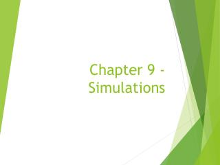 Chapter 9 - Simulations