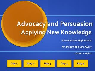 Advocacy and Persuasion