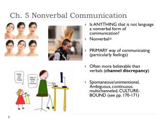 Ch. 5 Nonverbal Communication