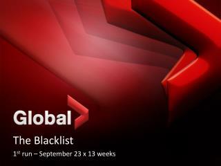The Blacklist 1 st  run – September 23 x 13 weeks