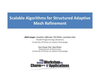 Scalable Algorithms for Structured Adaptive Mesh Refinement