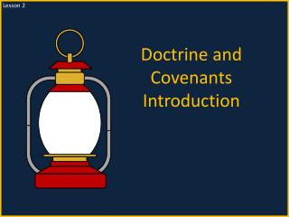 Doctrine and Covenants Introduction