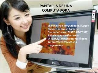 PANTALLA DE UNA COMPUTADORA
