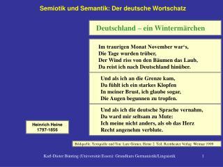 Semiotik und Semantik: Der deutsche Wortschatz