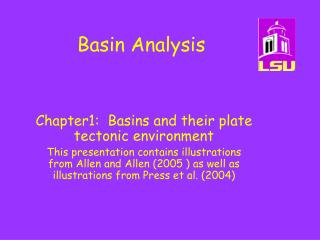 Basin Analysis