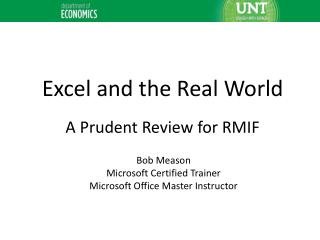 The Real World after you graduate is DATA It's RULE 1, Pure and Simple….and lots of it