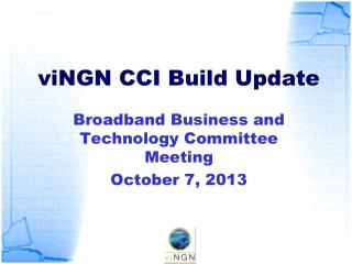 viNGN  CCI Build Update