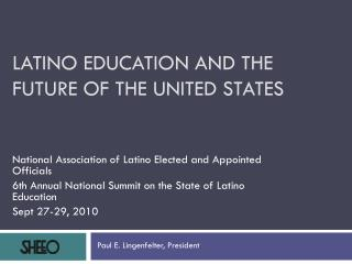 Latino Education and the future of the United States