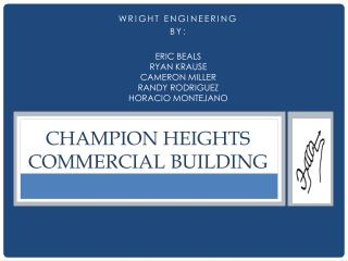CHAMPION HEIGHTS COMMERCIAL BUILDING