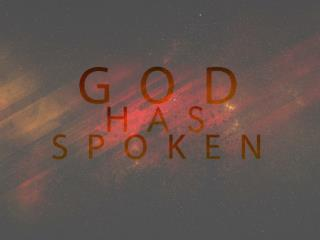 TITLE: How God speaks to us today.