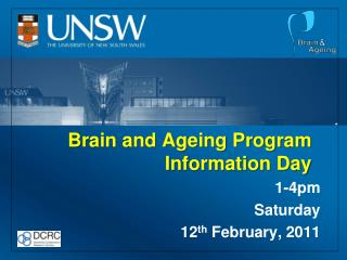 Brain and Ageing Program Information Day