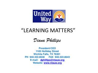 """""""LEARNING MATTERS"""""""