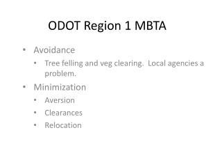 ODOT Region 1 MBTA