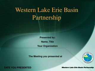 Western Lake Erie Basin Partnership