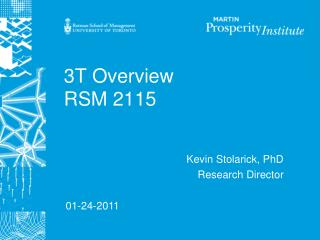 3T Overview RSM 2115