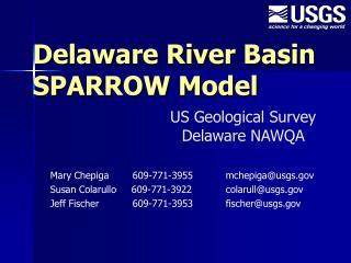 Delaware River Basin SPARROW Model