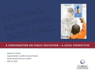 A conversation on public education – a local perspective