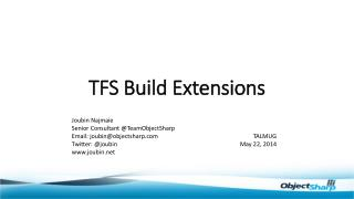 TFS Build Extensions