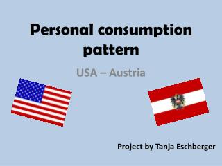 Personal  consumption pattern