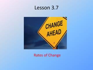 Lesson 3.7