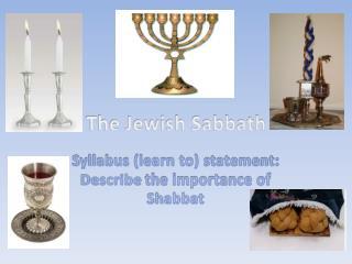 The Jewish Sabbath