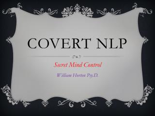 Covert NLP