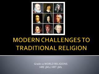MODERN CHALLENGES TO TRADITIONAL RELIGION