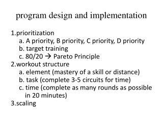 program design and implementation