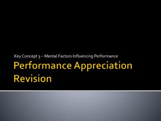 Performance Appreciation Revision