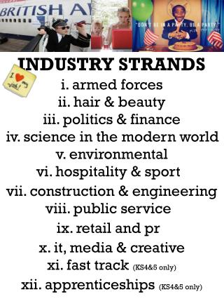 INDUSTRY STRANDS