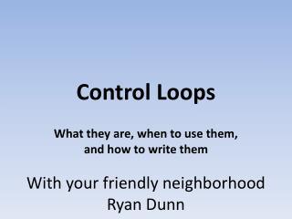 Control Loops