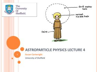 ASTROPARTICLE PHYSICS LECTURE 4