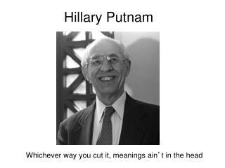Hillary Putnam