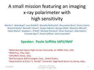 A small mission featuring an imaging x-ray  polarimeter  with high sensitivity