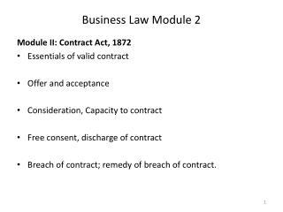 Business Law Module 2