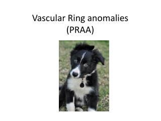 Vascular Ring anomalies (PRAA)