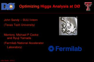 Optimizing  Higgs Analysis at DØ