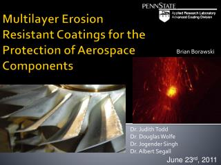 Multilayer Erosion Resistant Coatings for the Protection of Aerospace Components