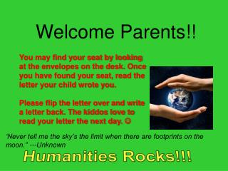 Welcome Parents!!