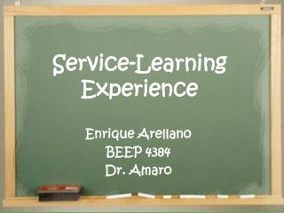 Service-Learning Experience