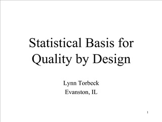 Statistical Basis for Quality by Design