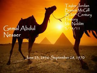 Gemal  Abdul  Nesser