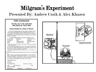Milgram�s Experiment