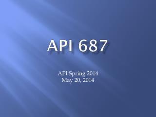 API 687
