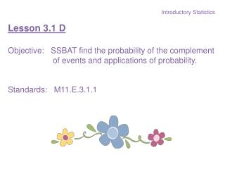 Introductory Statistics Lesson 3.1 D