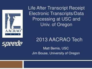 2013 AACRAO Tech