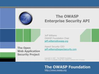 The OWASP Enterprise Security API