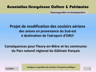 Association fleurysienne Culture & Patrimoine