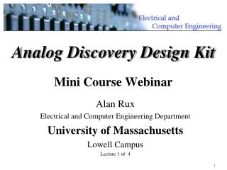 Analog Discovery Design Kit Mini Course Webinar