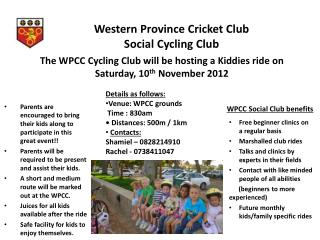 Western  Province Cricket  Club  Social Cycling  Club
